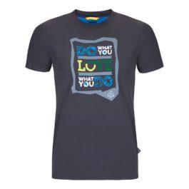 letné turistické tričko šedé zajo