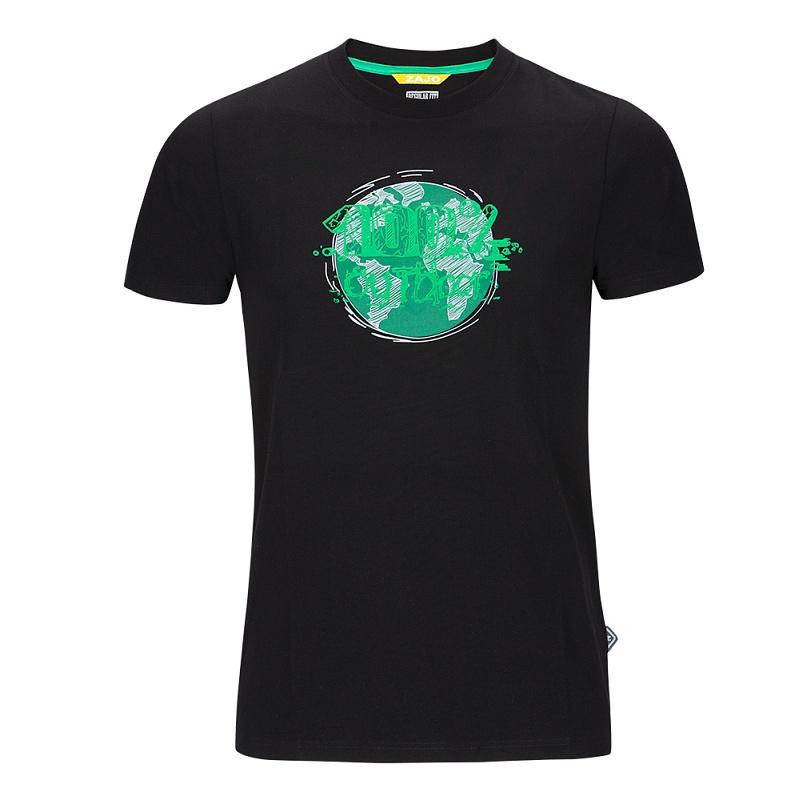 letné turistické tričko čierne zajo